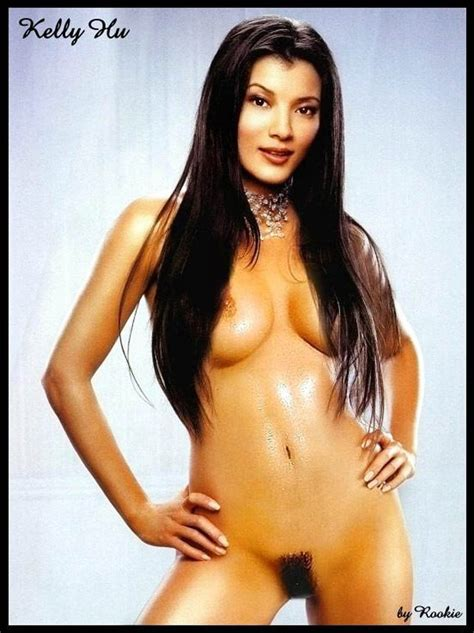 Kelly Hu Spread On The Bed Exposing Her Juicy Tits And
