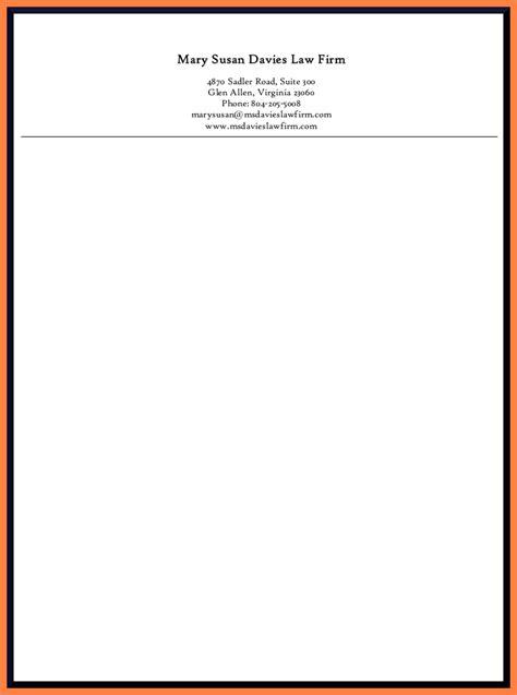 attorney letterhead template company letterhead