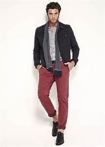 vetements homme veste en jean et pantalon rouge ss15 With chemise homme rouge et noir a carreau