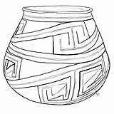 Clay Pottery Coloring Pages Sketch Template sketch template