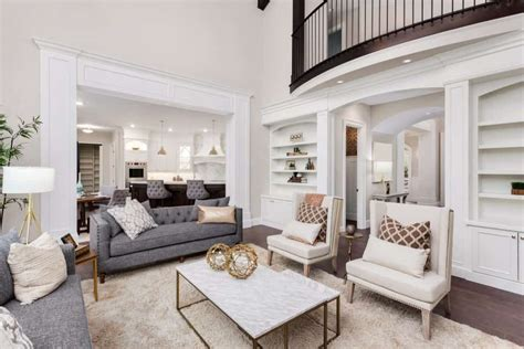 white modern formal living room ideas