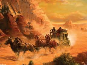 Abstract Western Painting Cowboy
