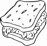 Coloring Sandwich Bread Slice Toast Drawing Drawin Cartoon Colorings Getcolorings Getdrawings Printable Tremendous Sam Popular Friends sketch template