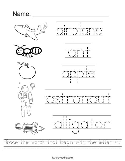 create tracing worksheets worksheets for all