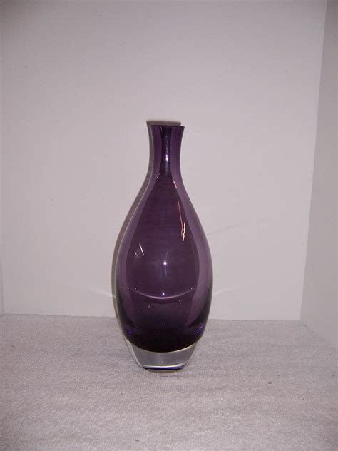 Purple Glass Vase by Tarnow Purple Glass Vase Poland A Resale