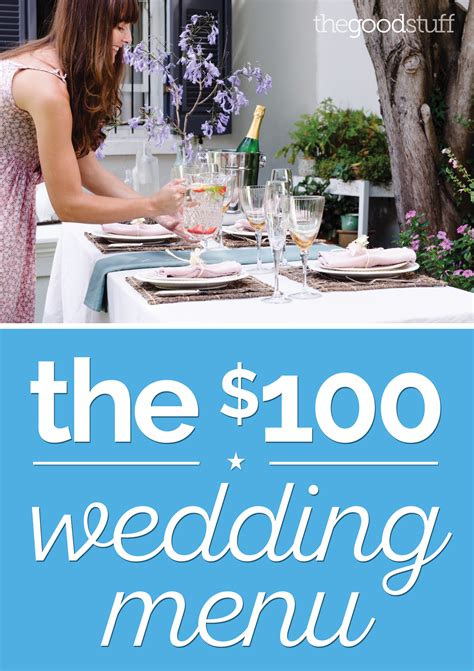 At your reception, offer sweet treats like cupcakes, donuts, ice cream sundaes, and even a chocolate fondue station with. A DIY Wedding Menu for Just $100 - thegoodstuff