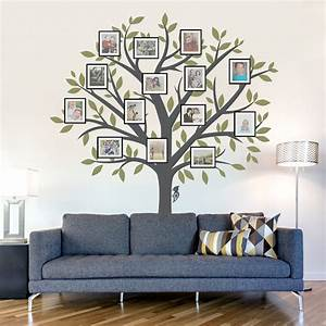 Family tree wall decal tree wall sticker nature wall decal for Wall murals decals