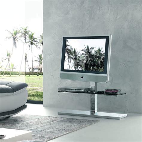 porta tv cristallo porta tv orientabile kino con piani in cristallo
