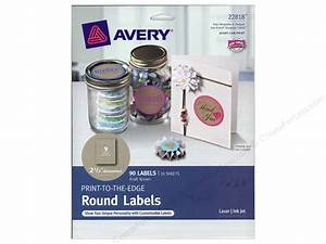 avery round labels 2 1 2 in kraft brown 90 pc With avery 1 inch round clear labels