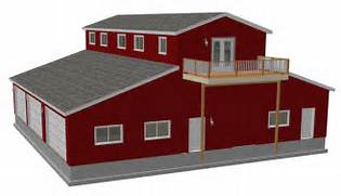 Shed Home Designs by Pole Barn House Plans Blueprints Viewing Gallery