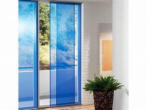 Flächenvorhang Unterschiedliche Längen : schiebevorhang blau stroyreestr ~ Orissabook.com Haus und Dekorationen