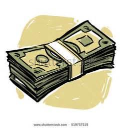 Cartoon Money Stacks