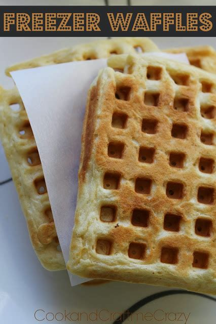 Waffles In The Toaster - cook and craft me freezer waffles