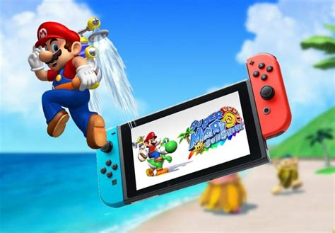 Super Mario Sunshine Running On A Nintendo Switch Its