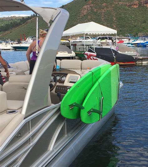 Boat Fender Storage by Paddleboard Storage Rack On Pontoon Boat Sup Kayak