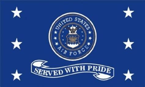 3'x5' Air Force Served With Pride Flag Outdoor Banner