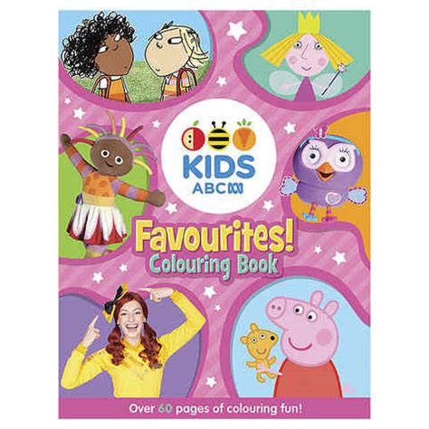 abc kids favourites colouring book book kmart