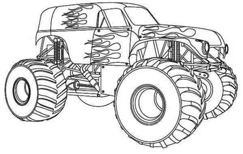 Get This Printable Monster Truck Coloring Pages 59949