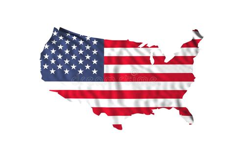 Waving Usa Flag Stock Photo. Image Of Culture, Wind
