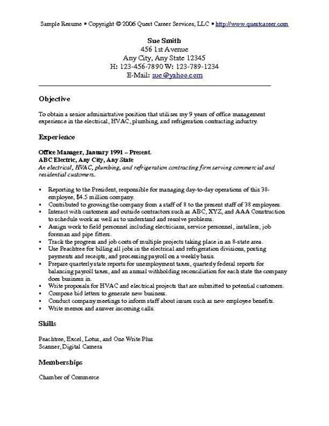 Objective For Resume by Resume Objective Exles 1 Resume Cv Design Resume