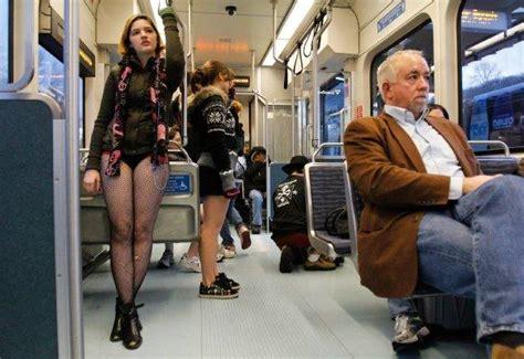 pants light rail ride seattle  pantless