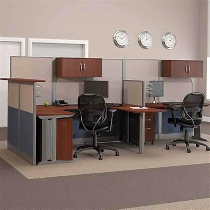 Desk Workstation Computer Double Shaped Office Melamine