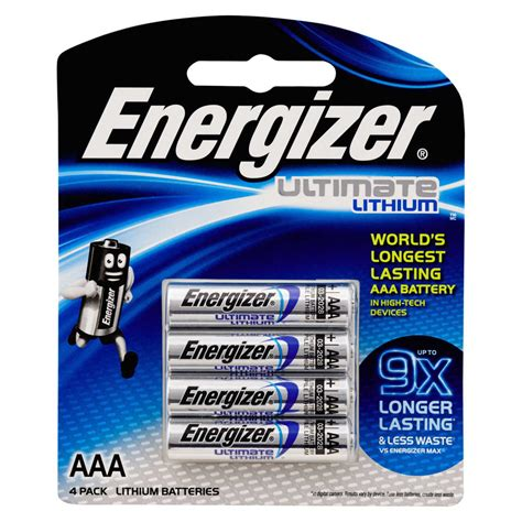 Energizer AAA Ultimate Lithium Batteries 4 Pack  BIG W