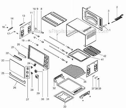 Toaster Parts Delonghi Oven Diagram Rotisserie Ereplacementparts