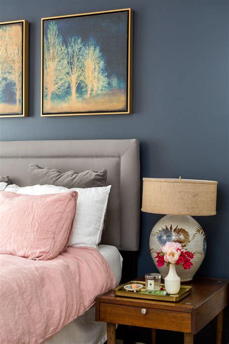 Boho Chic Navy And Pink Bedroom  A Vintage Splendor At Home