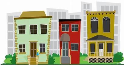 Neighborhood Clipart Clip Houses Transparent Estate Background