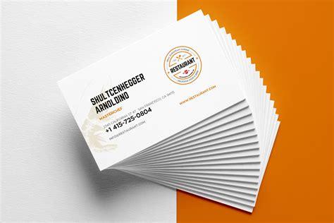 restaurant business card templates business card
