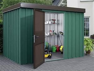 Gerätehaus Metall Flachdach : metall gartenhaus mzh 3 ger tehaus mit strukturwand ~ Michelbontemps.com Haus und Dekorationen