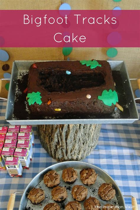 bigfoot tracks cake  inspiration vault