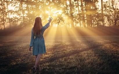 Morning Feeling Sunlight Fairy Wallpapers Pc Mobile
