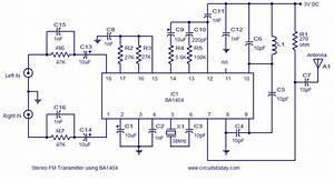 Stereo Fm Transmitter Circuit Using Ba1404electronics