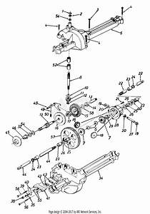 Mtd 136h451f062  1996  Parts Diagram For Transaxle Assembly