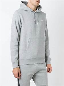 Light Gray Nike Hoodie Nike 39 Club Hoody 39 Sweatshirt In Gray For Men Lyst