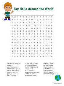 Halloween Themed Brain Teasers by Say Hello Word Search