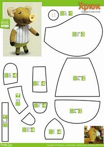 little miss piggie free pattern stuffed animal With templates for sewing animals