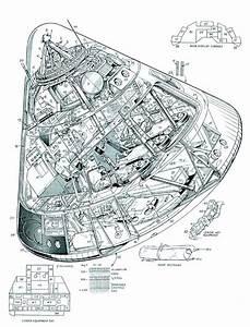 Apollo Command Module cutaway | Space & Beyond | Pinterest ...