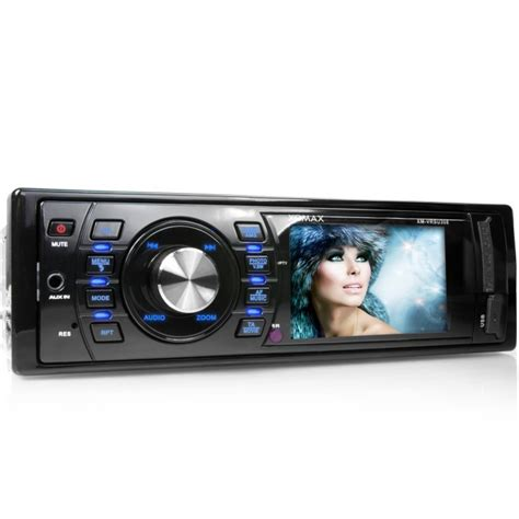 moniceiver 1 din autoradio mit 7 6cm 3 quot monitor display usb sd 64gb mp3 1din moniceiver ohne cd ebay