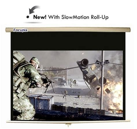 Focupix Widescreen Pro Slowmotion Pull Down Projector