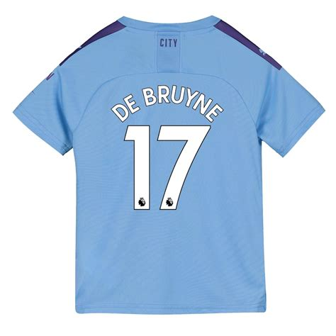 Manchester City Home Shirt 2019-20 - Kids with De Bruyne ...