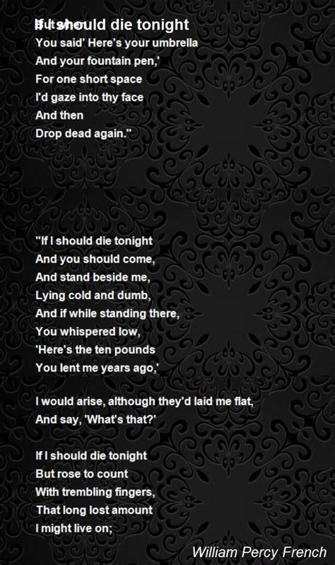 If I Should Die Tonight Quotes
