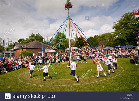Maypole Children Stock Photos & Maypole Children Stock
