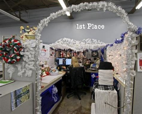 cubicle christmas decorating contest ideas designcorner