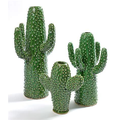 memo pour cuisine vase forme cactus vert en porcelaine kakto