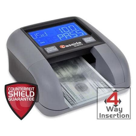 Rewards or promotional codes cannot be converted to cash, either directly or indirectly, and may not be transferred or sold. Cassida Quattro 4-Way Automatic Counterfeit Bill Detector QUATTRO