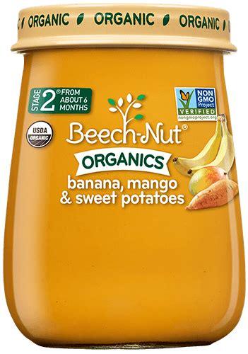 beech nut organics banana mango sweet potatoes baby food