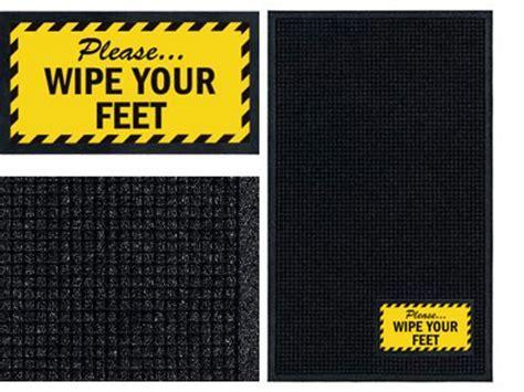 Wipe Your Feet Sign Mat   Wiper/Scraper   FloorMatShop.com